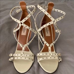 Valentino Love Latch Grommeted Leather Sandals